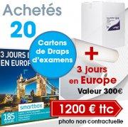 20 cartons de draps d'examen à 1200 € TTC + 3 jours en Europe
